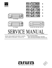 Service Manual Aiwa HV-GX1100