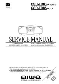 Manual de servicio Aiwa CSD-FD83
