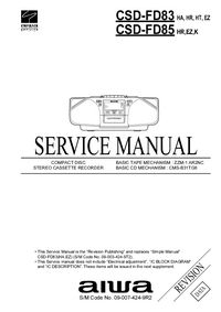 Instrukcja serwisowa Aiwa CSD-FD85