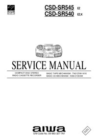 Service Manual Aiwa CSD-SR540