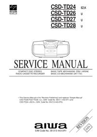 manuel de réparation Aiwa CSD-TD26