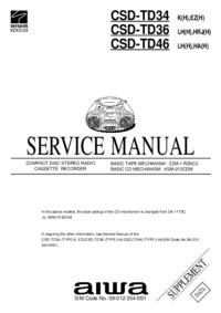 Service Manual Aiwa CSD-TD36