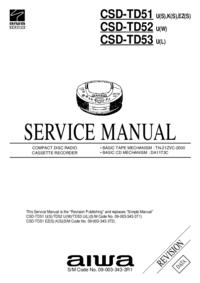 Instrukcja serwisowa Aiwa CSD-TD52