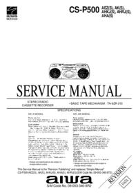 Servicehandboek Aiwa CS-P500