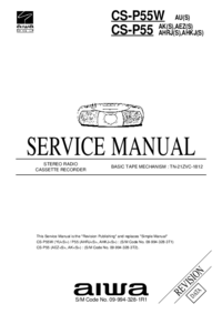 Manual de servicio Aiwa CS-P55