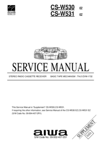 Manual de servicio Aiwa CS-W530