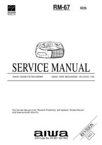Service Manual Aiwa RM-67