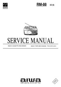 Serviceanleitung Aiwa RM-88