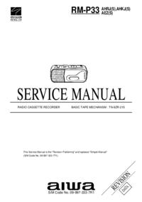 Service Manual Aiwa RM-P33