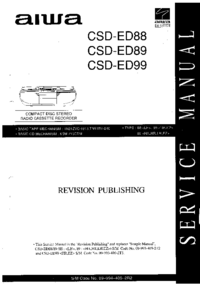 Servicehandboek Aiwa CSD-ED89