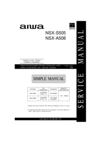 Service Manual Aiwa SX-NA502