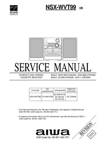 Service Manual Aiwa SX-WWVT79
