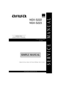 Manual de serviço Aiwa NSX-S222
