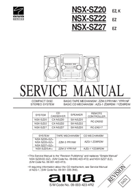 Service Manual Aiwa NSX-SZ27