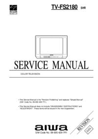 Руководство по техническому обслуживанию Aiwa TV-FS2180
