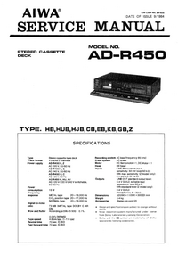 Service Manual Aiwa AD-R450