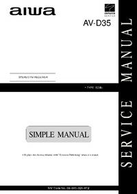 Manuale di servizio Aiwa AV-D35