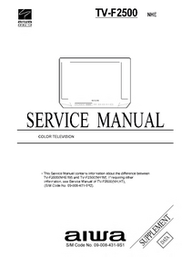 Service Manual Supplement Aiwa TV-F2500