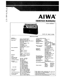 Manual de servicio Aiwa CS-880HG