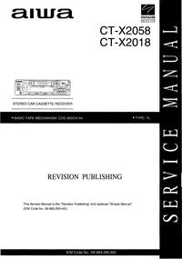 Manuale di servizio Aiwa CT-X2058