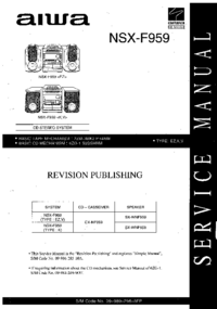 Instrukcja serwisowa Aiwa NSX-F959