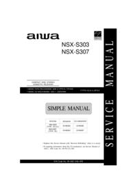 Instrukcja Serwisowa, schemat Cirquit i lista części Aiwa NSX-S303