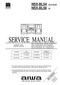 Manuale di servizio Aiwa NSX-BL56