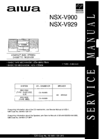 Service Manual Aiwa NSX-V929