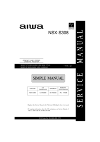 Service Manual Aiwa NSX-S308