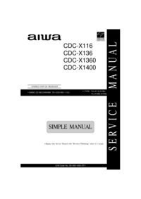Manual de servicio Aiwa CDC-X1360