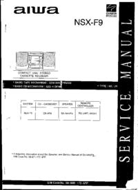 Servicehandboek Aiwa NSX-F9