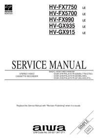 Service Manual Aiwa HV-GX915