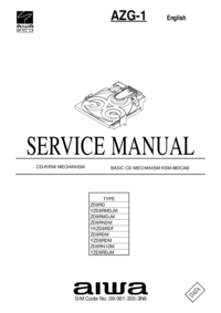 Service Manual Aiwa AZG-1 ZD8RN1DM