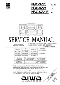 Service Manual Aiwa NSX-SZ20 HA,HR