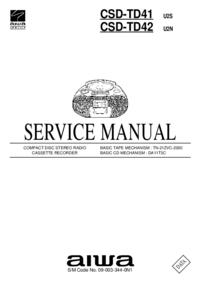 Service Manual Aiwa CSD-TD42 U2N