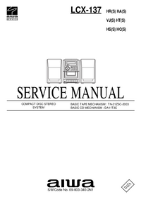 manuel de réparation Aiwa LCX-137 HA(S)