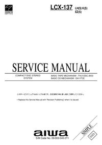 Manual de serviço Aiwa LCX-137 EZ(S)