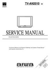 Servicehandboek Aiwa TV-AN2010 NH