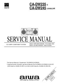manuel de réparation Aiwa CA-DW245 K