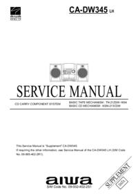 Serviceanleitung Aiwa CA-DW345 LH