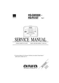 Service Manual Aiwa HS-PX107 Y