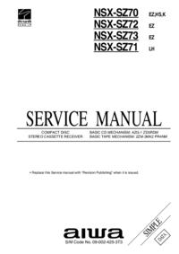 Serviceanleitung Aiwa NSX-SZ73 EZ