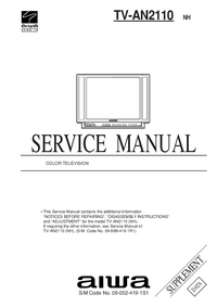 Manual de servicio Aiwa TV-AN2110 NH
