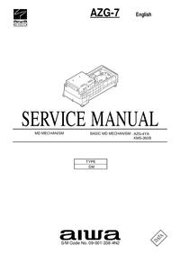 Instrukcja serwisowa Aiwa AZG-7 DM