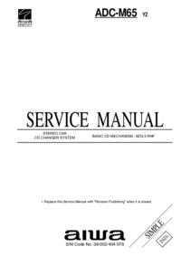 Manuale di servizio Aiwa ADC-M65 YZ