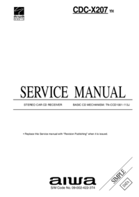 Manual de servicio Aiwa CDC-X207 YH
