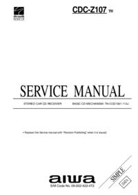 Instrukcja serwisowa Aiwa CDC-Z107 YH