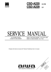 Manual de servicio Aiwa CSD-A220 HA, LH