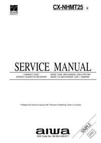 Service Manual Aiwa CX-NHMT25 U