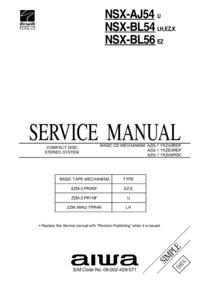 Manual de serviço Aiwa NSX-BL54 EZ